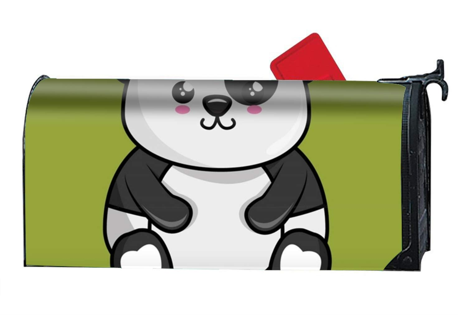 MAYS Cute Panda Character Kawaii Style Magnetic Mailbox Cover - Fairy Garden Accessories
