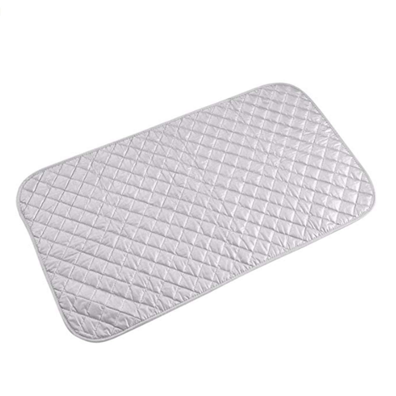 Natuce Portable Ironing Mat, pieghevole da viaggio resistente al calore, coperta Ispessito asse da stiro copertura per lavatrice, asciugatrice, asse da stiro da tavolo, da appoggio, Small (19× 83,8cm)