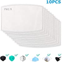 Activated Carbon Filter 5 Layers Protective Face Cover Filter Replacement, PM 2.5 Filter Insert 5 Layers Replaceable Anti Haze Bandana Filter Paper (10pcs)