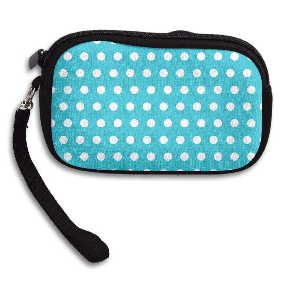 Personalized Custom Coin Purse with Colorful Dot Image Printing Two Sides