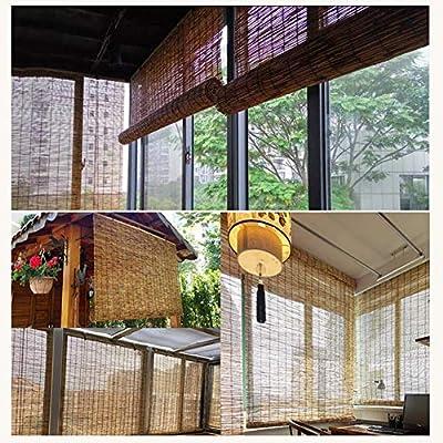 Bambú Enrollar Ventana Persiana Sun Shade Bambú Natural Fósforo, Bambú Rodillo Ciego, Madera Persianas Tejidas a Mano para Cubierta, Patio, glorieta, pérgola: Amazon.es: Hogar