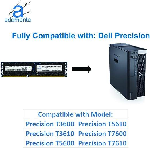 Adamanta 32GB Server Memory Upgrade for Dell PowerEdge R715 DDR3 1600Mhz PC3-12800 ECC Registered 2Rx4 CL11 1.5v 2x16GB