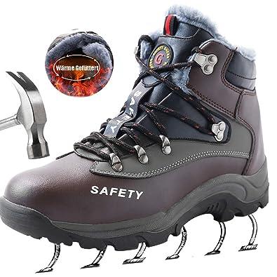 be8ab1308a5 SUADEEX Homme Femme Chaussure de Travail Bottes Impermeable Chaussure de  Sécurité Embout en Acier Antidérapante Baskets