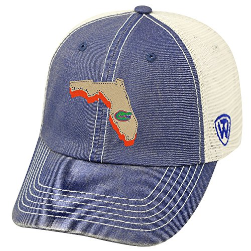 Top of the World Florida Gators Men's Mesh-Back Hat Icon, Royal, Adjustable