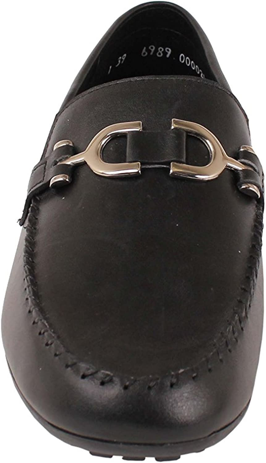 Zadas Boys Casual Dress Shoes 703 Black Leather Loafers with Buckle Footwear