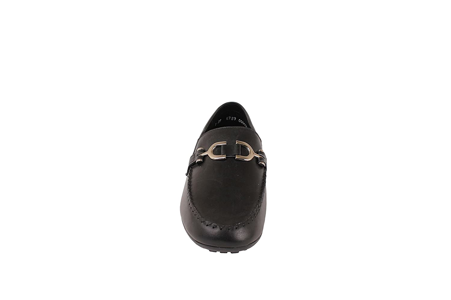 Zadas Boys Casual Dress Shoes 703 Loafers with Buckle Footwear Black Leather