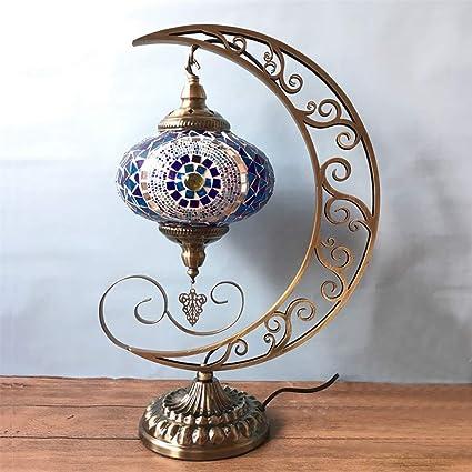 SHWSM Lámpara de Escritorio Lámpara de Mesa turca Lámpara de ...