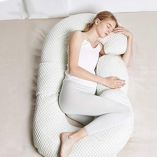 XYYFZ Almohada para Dormir para Mujeres Embarazadas Almohada ...