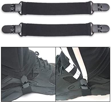 2PCS Motorcycle Stirrup Pant Clips Bike Leg Boot Elastic Adjustable Straps USA
