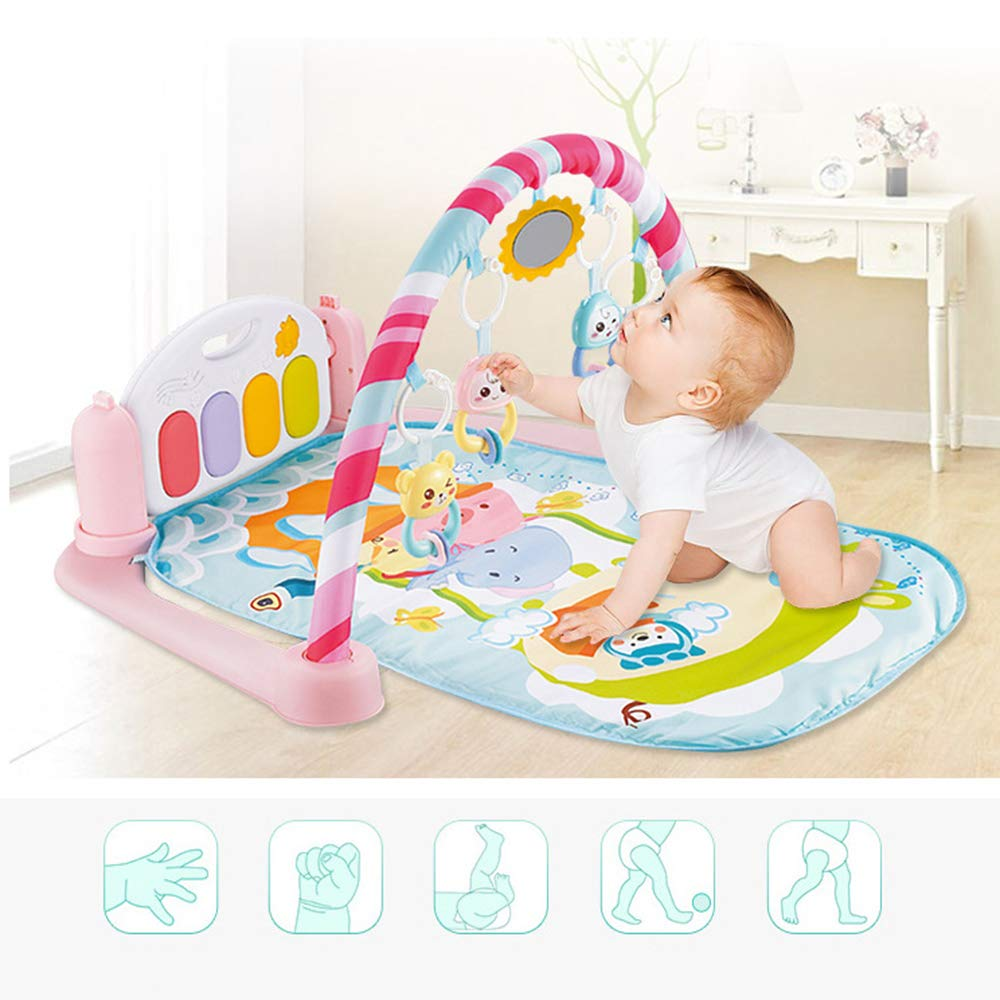 MCJL Remote Control Pedal Piano Early Childhood Education Rattle Music Carpet Fitness Rack Game Suitable for Newborns Born in Music and Lighting,Lion by MCJL (Image #5)