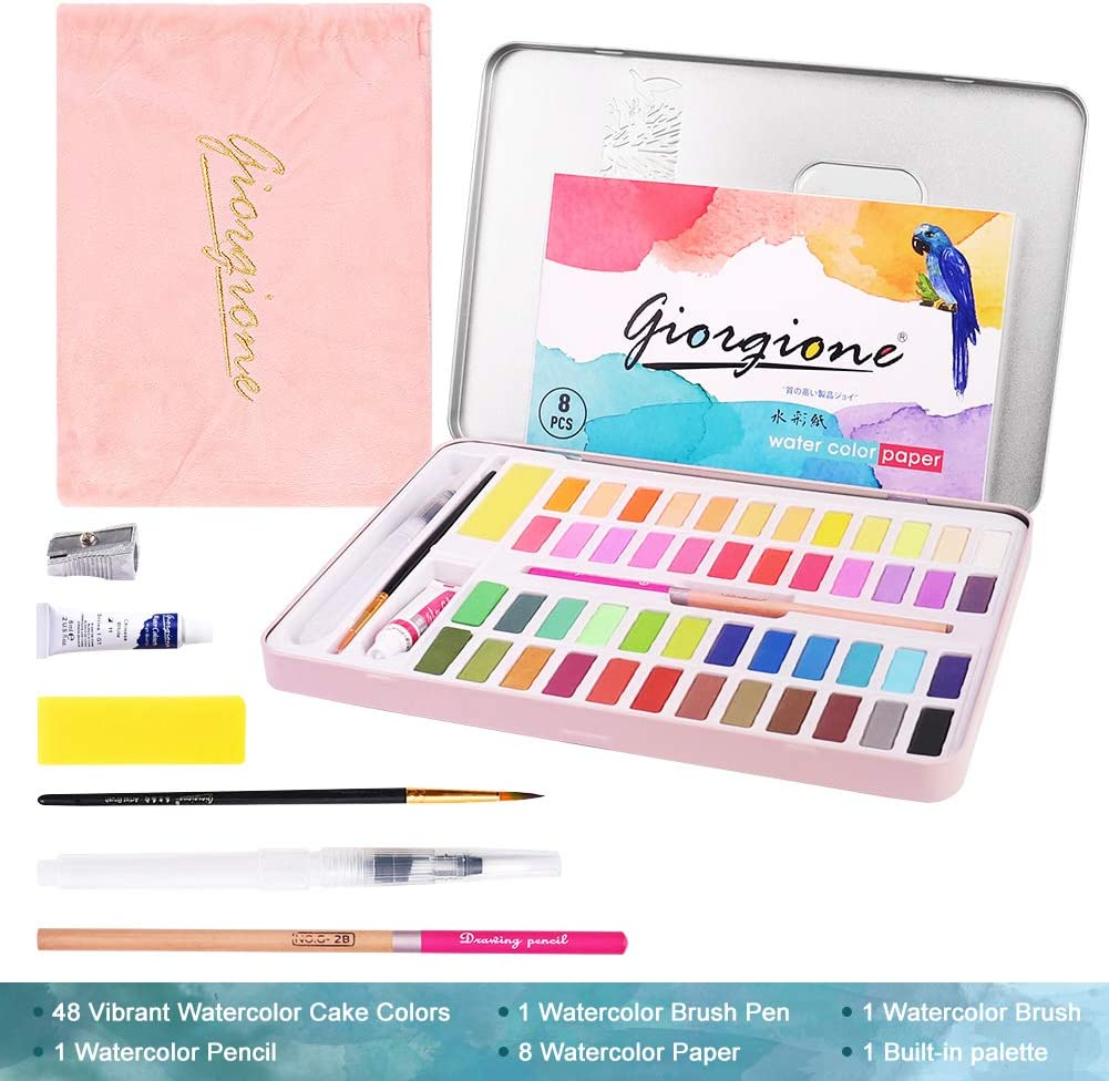 Palette Artists Art Supplies Painting Gifts for Adult and Durable Storage Case,Blue Teenager TARFEPA Kids Watercolor Paint Set 36 Reusable Watercolor Paint Kits with Watercolor Paint Brush Pens