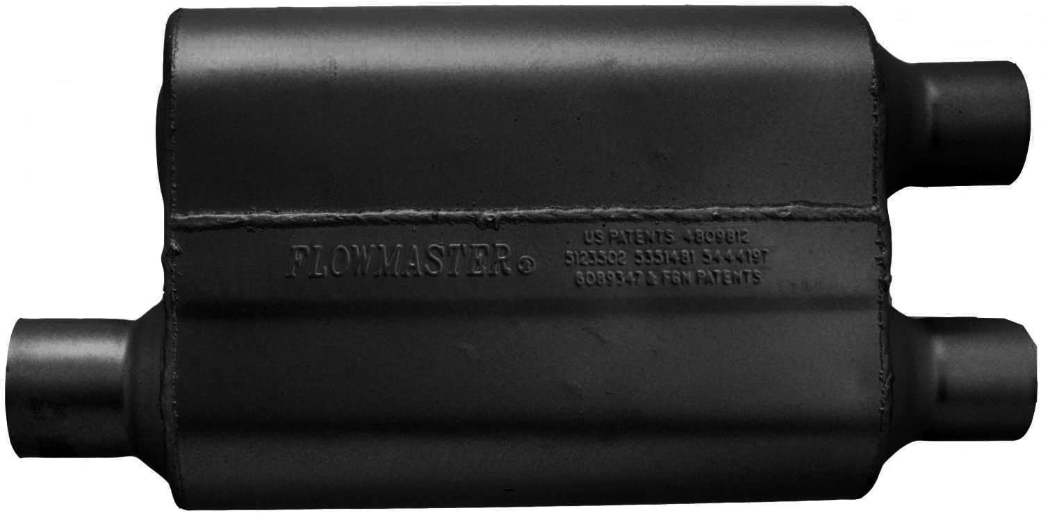 2.25 Dual OUT Aggressive Sound Flowmaster 9425432 40 Delta Flow Muffler 2.50 Offset IN