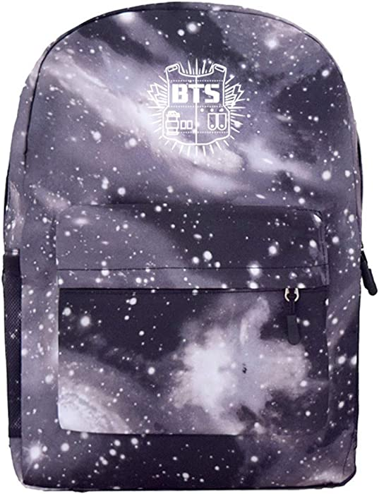 BTS Starry Sky Printing Canvas Backpack For Men and Women (One size ... b056fb306a701