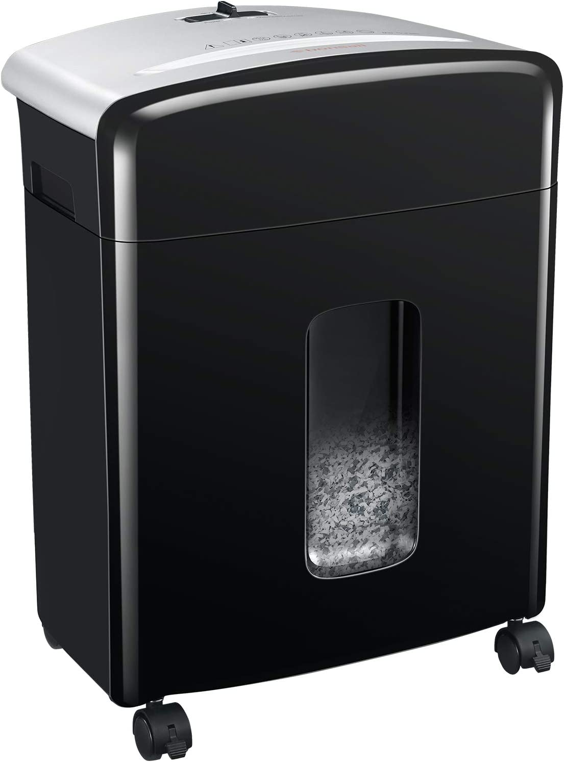 Bonsaii 10-Sheet High-Security Micro-Cut Paper Shredder, Credit Card/Staples/Clips Shredders for Office and Home Use, 3.5-Gallon Pullout Wastebasket with Large Transparent Window (C220-B) : Electronics