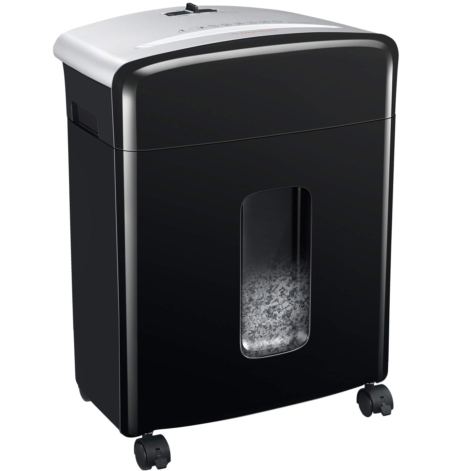 Bonsaii 10-Sheet High-Security Micro-Cut Paper Shredder, Credit Card/Staples/Clips Shredders for Office and Home Use, 3.5-Gallon Pullout Wastebasket with Large Transparent Window (C220-B) by bonsaii