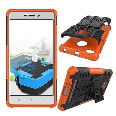 XINYUNEW Funda Xiaomi Redmi 3s/3 Prime, 360 Grados Protective+Pantalla de Vidrio Templado Caso Carcasa Case Cover Skin móviles telefonía Carcasas ...