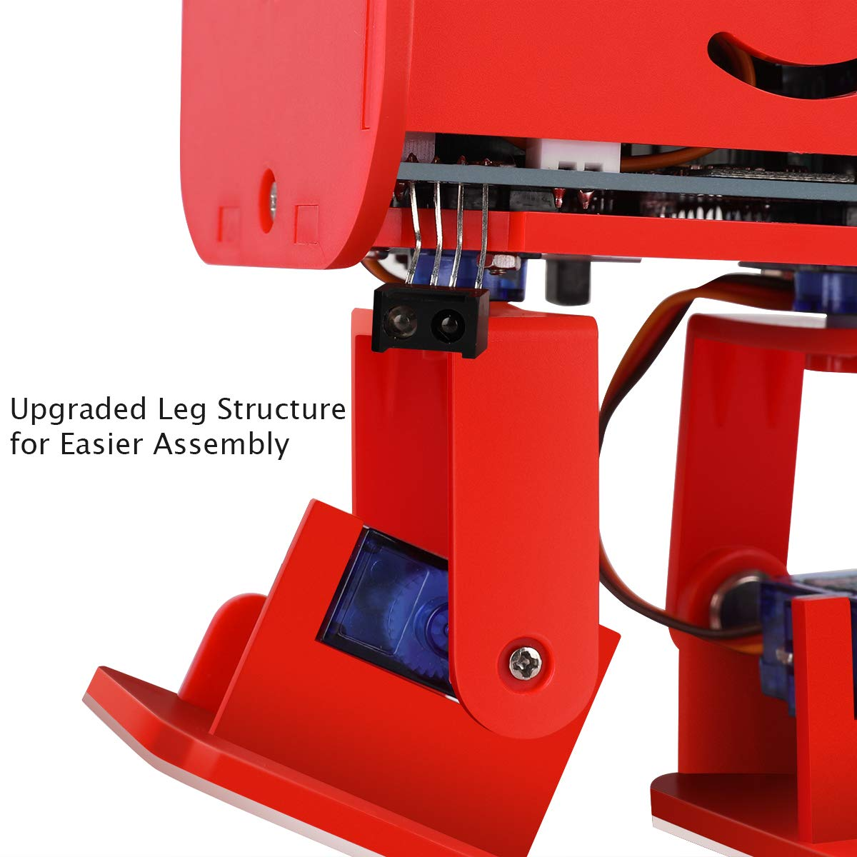 ELEGOO Penguin Bot Biped Robot Kit for Arduino Project with Assembling Tutorial,STEM Kit for Hobbyists, STEM Toys for Kids and Adults, Red Version by ELEGOO (Image #3)