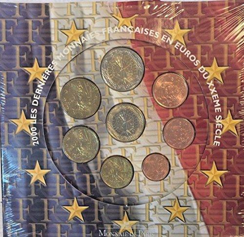 FR 2000 France 2000 Euro Set 8 Coins UNC Monnaie De Paris Good