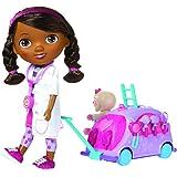 Docteur La Peluche 5738 Puppe mit Krankenwagen und Zubehör