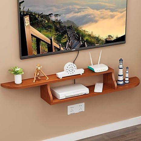 GLJJQMY Repisa Flotante de TV Estante para televisor decodificador TV Consola de la Sala Dormitorio TV decoración de la Pared decoración de Muebles Estante de Montaje en Pared (Color : B): Amazon.es: