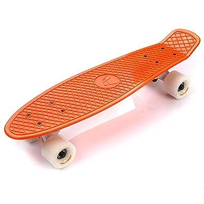 meteor Classique de skateboard en plastique, mini enfants & garçon Cruiser, plastique Board Rétro