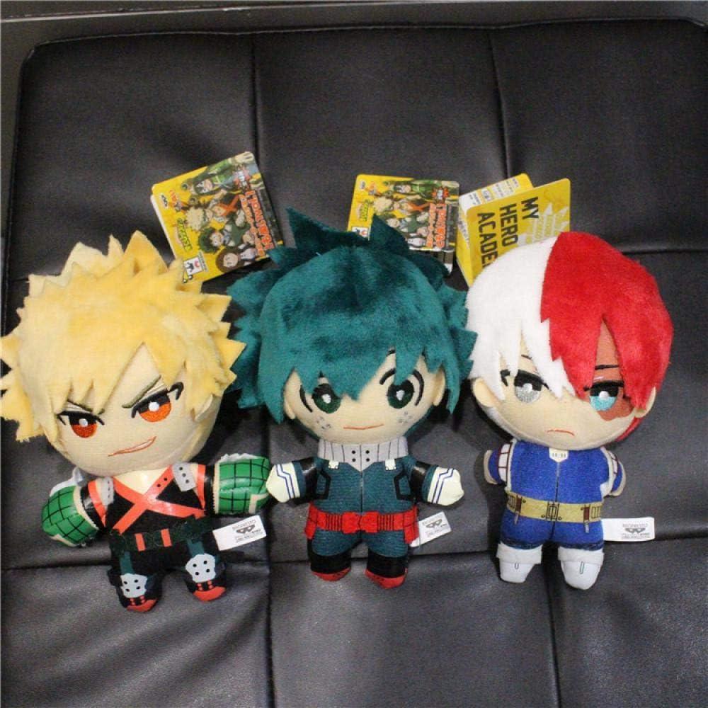 Stuffed Deku Plush Dolls Pendant Cartoon Movie My Hero Academia Baguko Todoroki Shoto Cotton Filled Toys for Children Deku