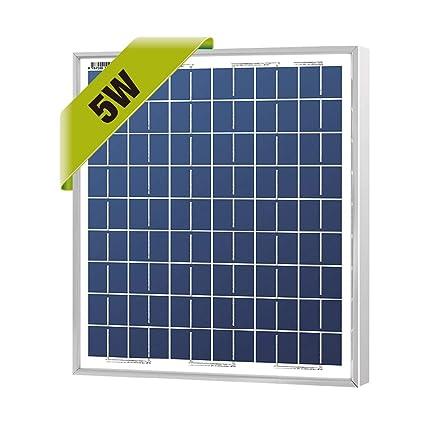 Amazon.com: NewPowa - Módulo de panel solar de 5 W 12 V de ...