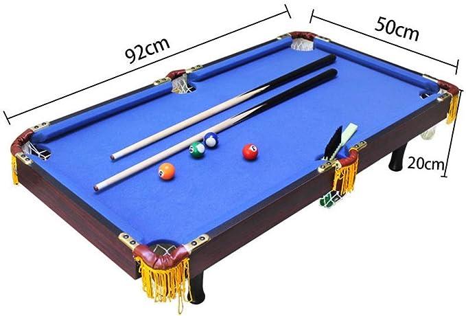Wanlianer-Home Mesa de Billar Mini Deportes De Mesa Mesa De Billar Juego De Billar For Niños - Tema De Los Deportes (Color : Azul, tamaño : 92x50x20cm): Amazon.es: Hogar
