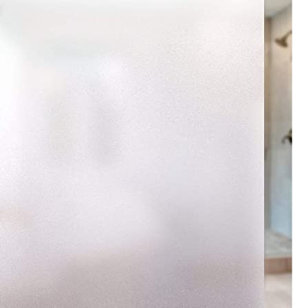 Myir JUN Film Fenetre Film Fenetre Anti Regard Film pour Vitre Film Occultant Fen/être Autocollant de Fen/être Effet Verre Mate Film Vitre de Protection UV Autocollant