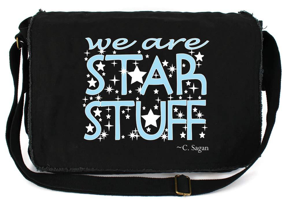 Tenacitee We Are Star Stuff Red Brushed Canvas Messenger Bag