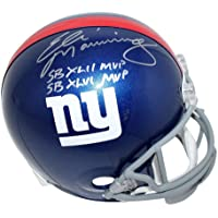 $299 » Eli Manning New York Giants Signed Autograph Full Size Helmet DUAL SUPER BOWL MVP INSCRIBED Written Out Steiner Sports Certified