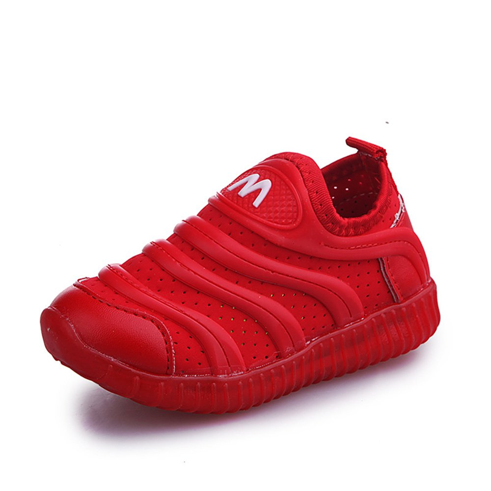 Rose town Kids LED Light Up Shoes Luminous Flashing Sneakers for Boys Girls Red-31//13 M US Little Kid
