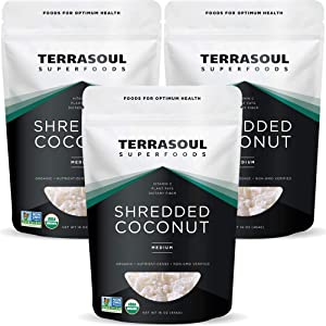 Terrasoul Superfoods Organic Coconut Flakes, 3 Lbs (3 Pack) - Medium Flakes | Unsweetened | Perfect for Baking