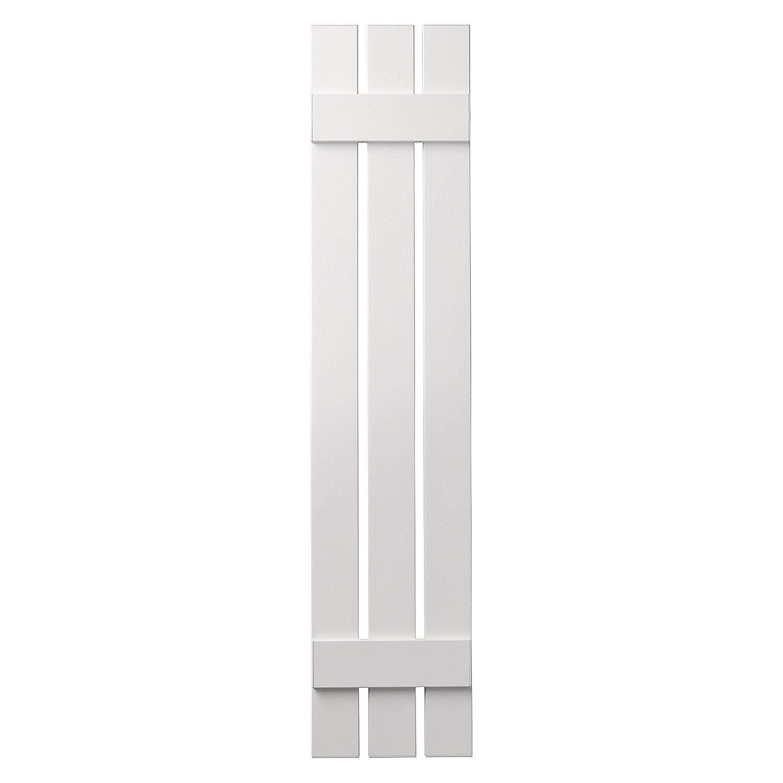 Renewed Ply Gem Shutters and Accents VIN301247 11 3 Board Open Board /& Batten Shutter White
