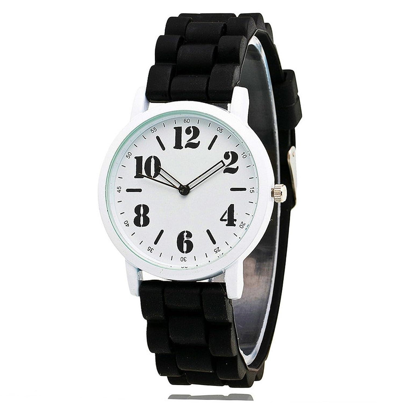 loweryeahユニセックスSilica Jelly Gel Strap Watchアナログクォーツスポーツゴム手首腕時計 B07BT5WJSW
