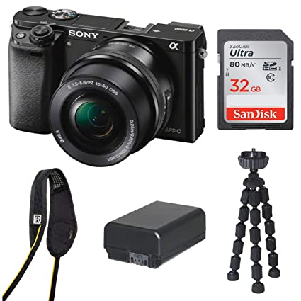 Amazon.com : Sony Alpha a6000 Mirrorless Camera w/ 16-50mm ...