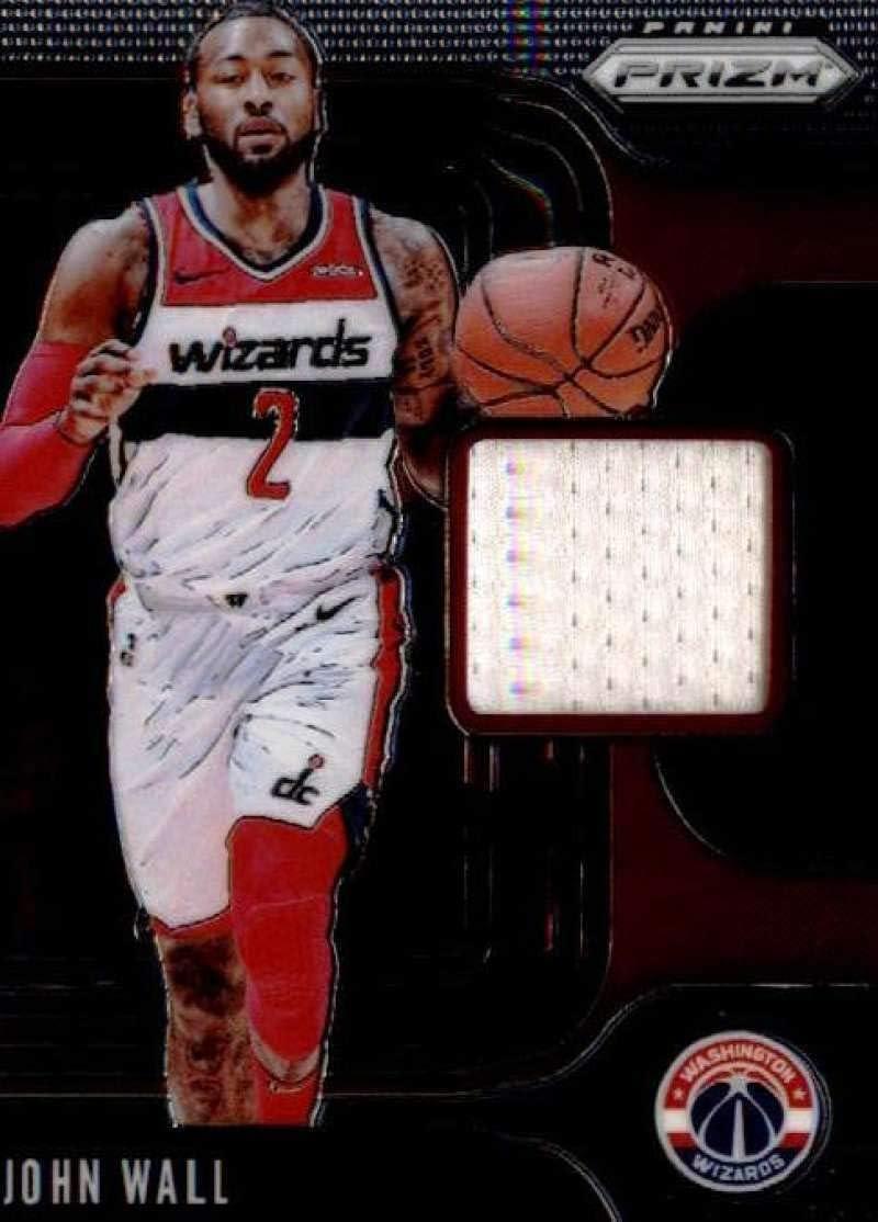 2019-20 Panini Prizm Sensational Swatches #59 John Wall Game Used Jersey Washington Wizards NBA Basketball Trading Card