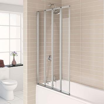 Aqualux 840 mm Aqua 4 Falz zusammenklappbar Badezimmer Badewanne ...