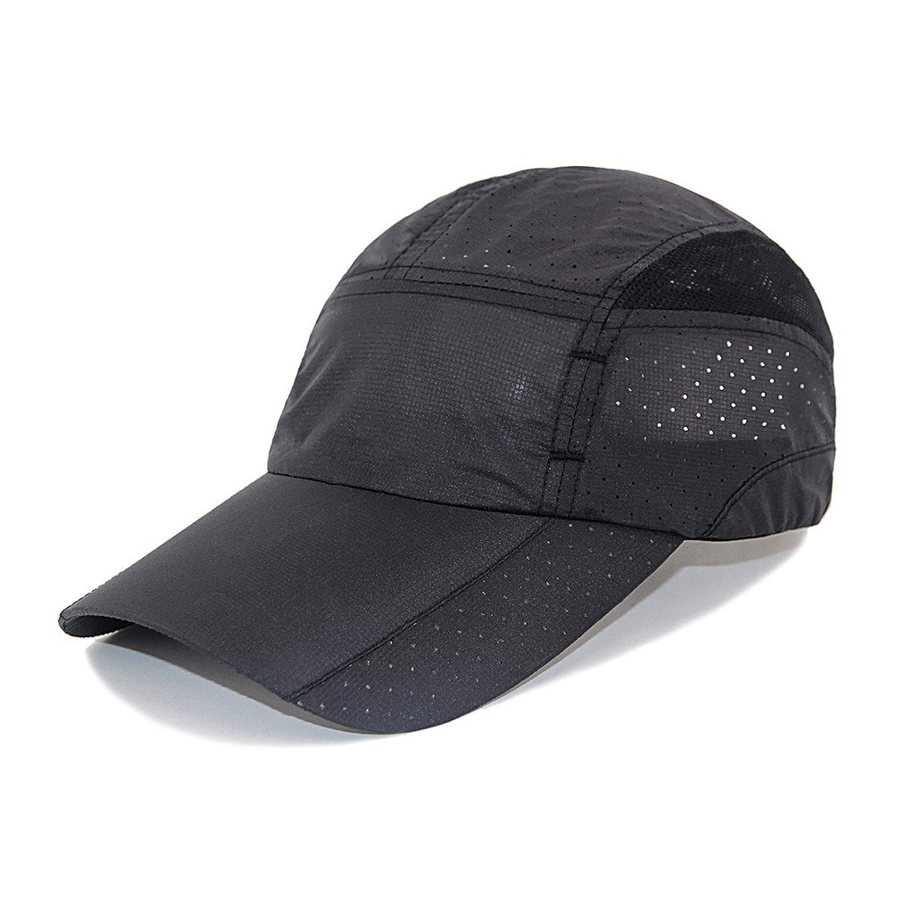 LETHMIK Sport Cap Summer Quick-drying Sun Hat Unisex UV Protection Outdoor Cap SGM0001NEWBK