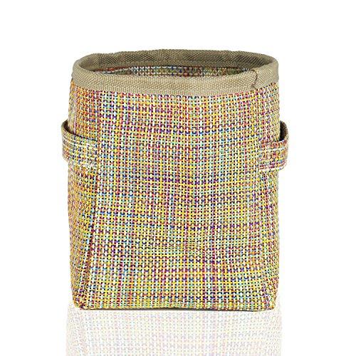 [해외]ASTER 새로운 유형 PVC는 자루를 깐다 손잡이를 가진 두 배 층 통기 직물 주전자 / 유행 저장 상자 책상 장식 주최 문구 용품 메이크업 화장 용 Cont/ASTER New-type PVC Grow Bags Double Layer Aeration Fabric Pots With Handles / Fashion Stora...