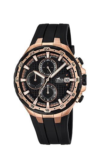 Lotus 18186 1 - Reloj de Pulsera con cronógrafo para Hombre (Mecanismo de  Cuarzo 22cfd0f57638