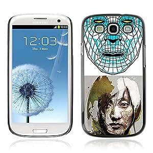 A-type Arte & diseño plástico duro Fundas Cover Cubre Hard Case Cover para Samsung Galaxy S3 III / i9300 i717 ( Ciencia Ficción Arte Futuro )
