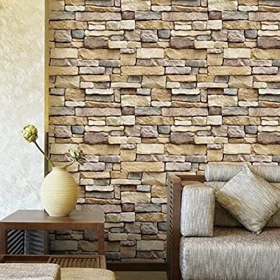 Peel And Stick Brick Wallpaper 3d Self Adhesive Textured Removable