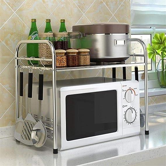 Soporte para estante de microondas, cocina de una sola capa ...