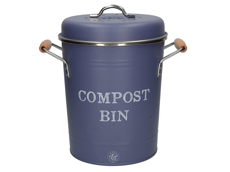 Creative Tops compost Bin, acciaio, blu, 19x 26x 25.5cm 5213710