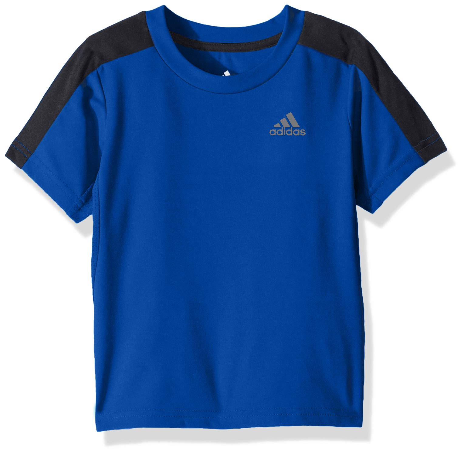 adidas Boys' Big Short Sleeve Logo Tee Shirt, Training a Dark Royal, L (14/16)