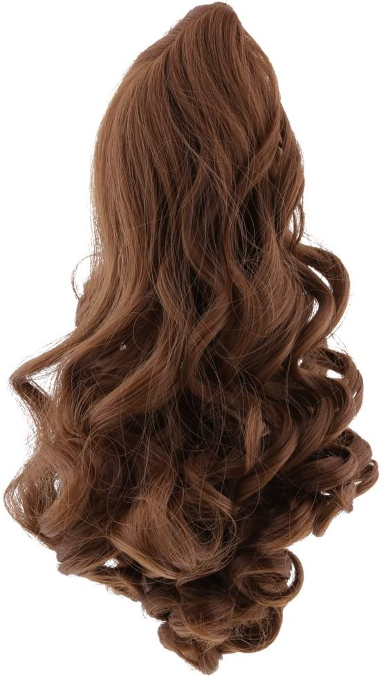 Black 8 Colors 27cm Elegant Long Wavy Curly Hair Hairpiece for 18inch American Doll Dolls Wig DIY Making /& Repairs Accessory
