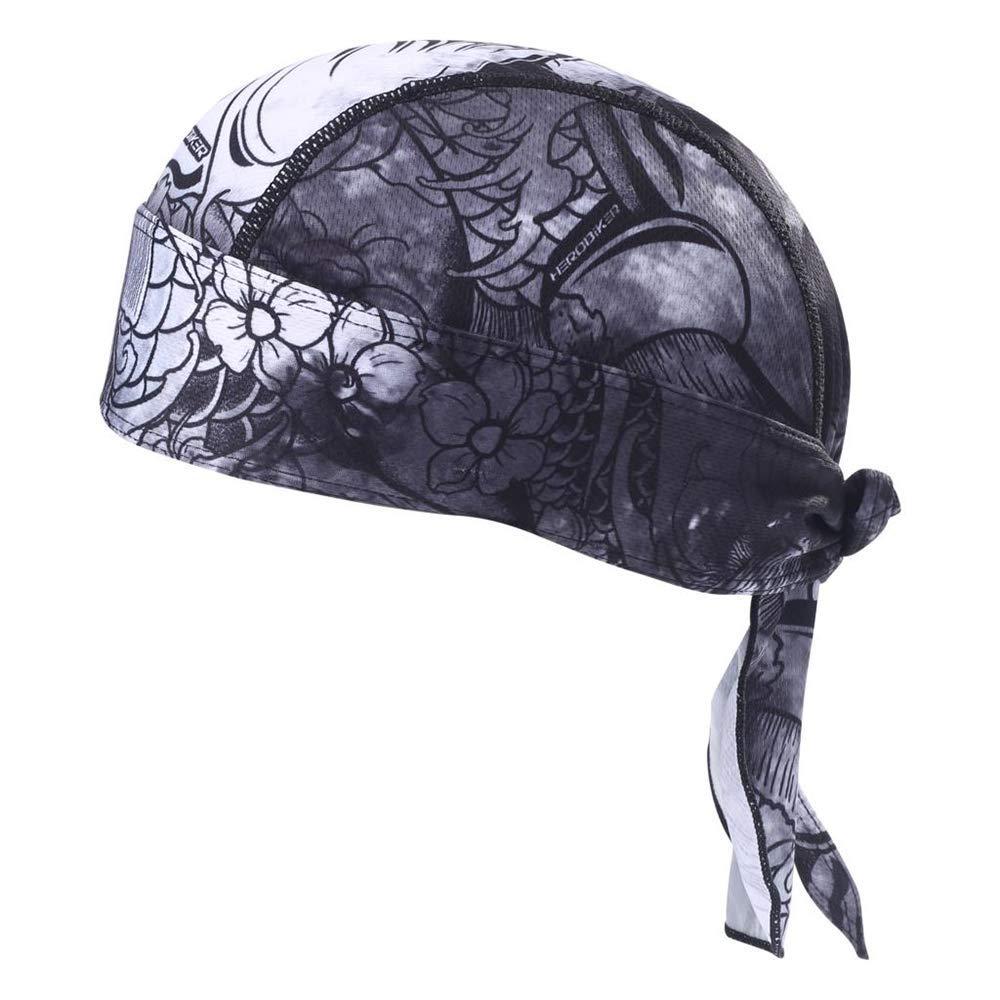 HEROBIKER Sweat Wicking Skull Cap Beanie Bandana Do-Rags Helmet Liner Outdoor Running Adjustable Breathable Quick Drying