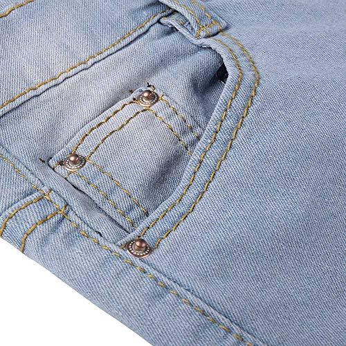 A Donna New yanhoo Strappi Skinny Leggings Donna Con Denim Alta jeans Elasticizzati Grezzo In Dritti Pantaloni Azzurro Vita Orlo Ed Jeans 8F8cp76rS