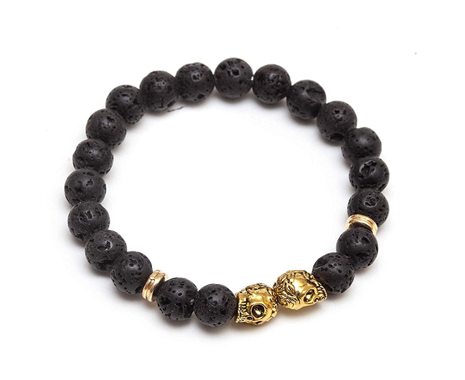 Koky Stone Beaded Stretch Bracelet for Men and Women LEWO
